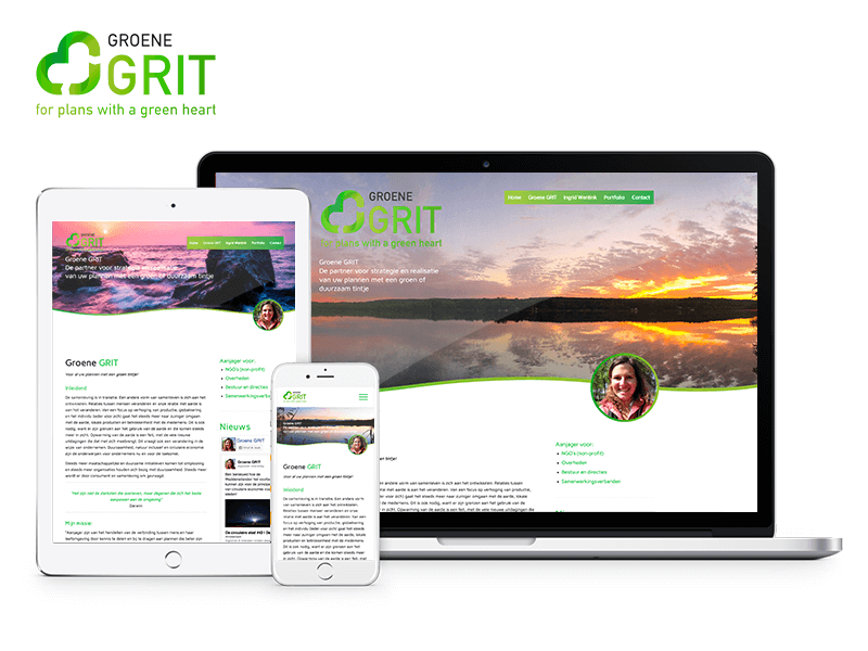 Groene GRIT | Webdesigner West-Friesland | Project Direct | Webdesign West-Friesland | Website bouwen West-Friesland | Wordpress West-Friesland | Grafische vormgever West-Friesland | SEO West-Friesland | Hosting | Wordpress training | Logo design West-Friesland | SSL Certificaten | Website onderhoud | Timo van Tilburg