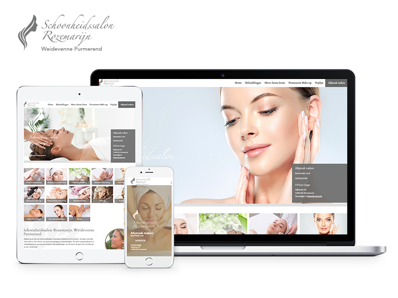 Schoonheidssalon Rozemarijn Weidevenne Westfriesland | Webdesigner West-Friesland | Project Direct | Webdesign West-Friesland | Website bouwen West-Friesland | Wordpress West-Friesland | Grafische vormgever West-Friesland | SEO West-Friesland | Hosting | Wordpress training | Logo design West-Friesland | SSL Certificaten | Website onderhoud | Timo van Tilburg