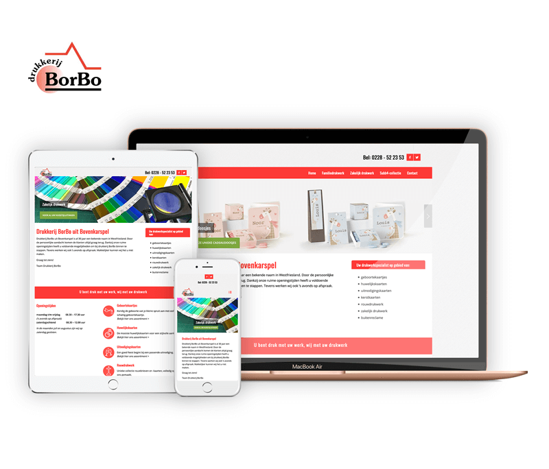 Drukkerij Borbo | Webdesigner West-Friesland | Project Direct | Webdesign West-Friesland | Website bouwen West-Friesland | Wordpress West-Friesland | Grafische vormgever West-Friesland | SEO West-Friesland | Hosting | Wordpress training | Logo design West-Friesland | SSL Certificaten | Website onderhoud | Timo van Tilburg